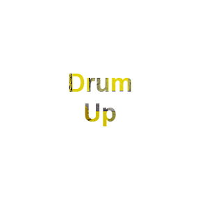 Roll over of Drum Up art work